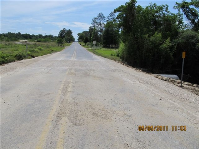 Resurfaced Road after project