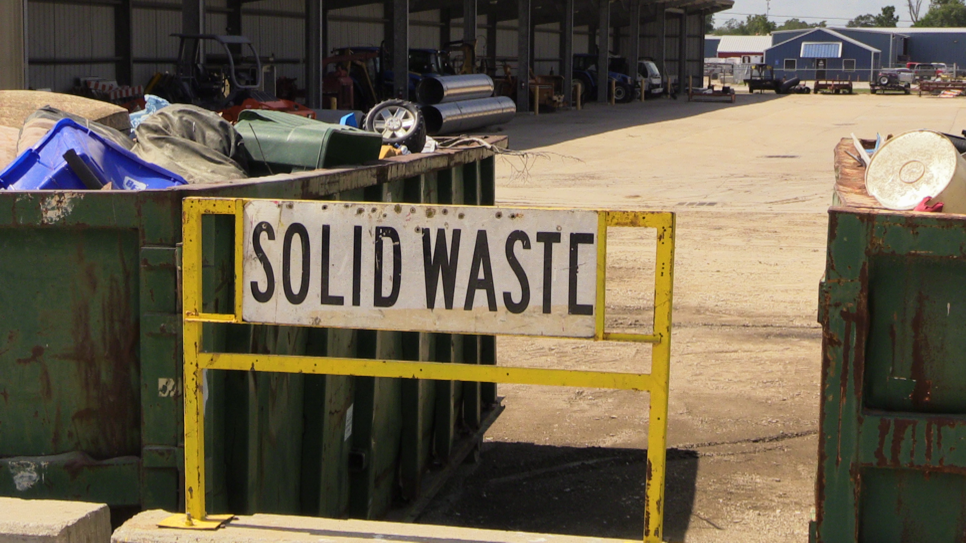 solid waste center sign