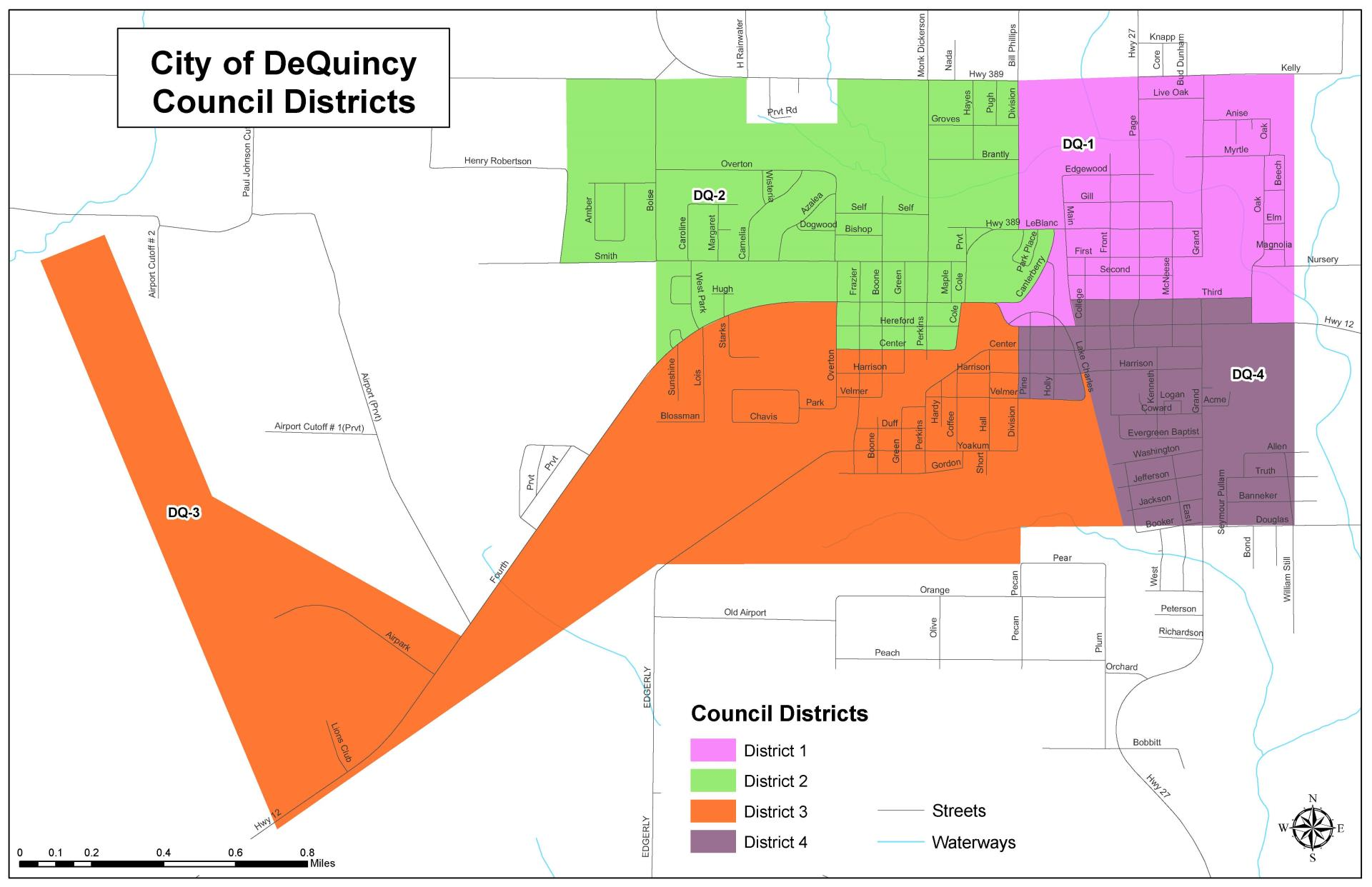 DeQuincy Council Districts