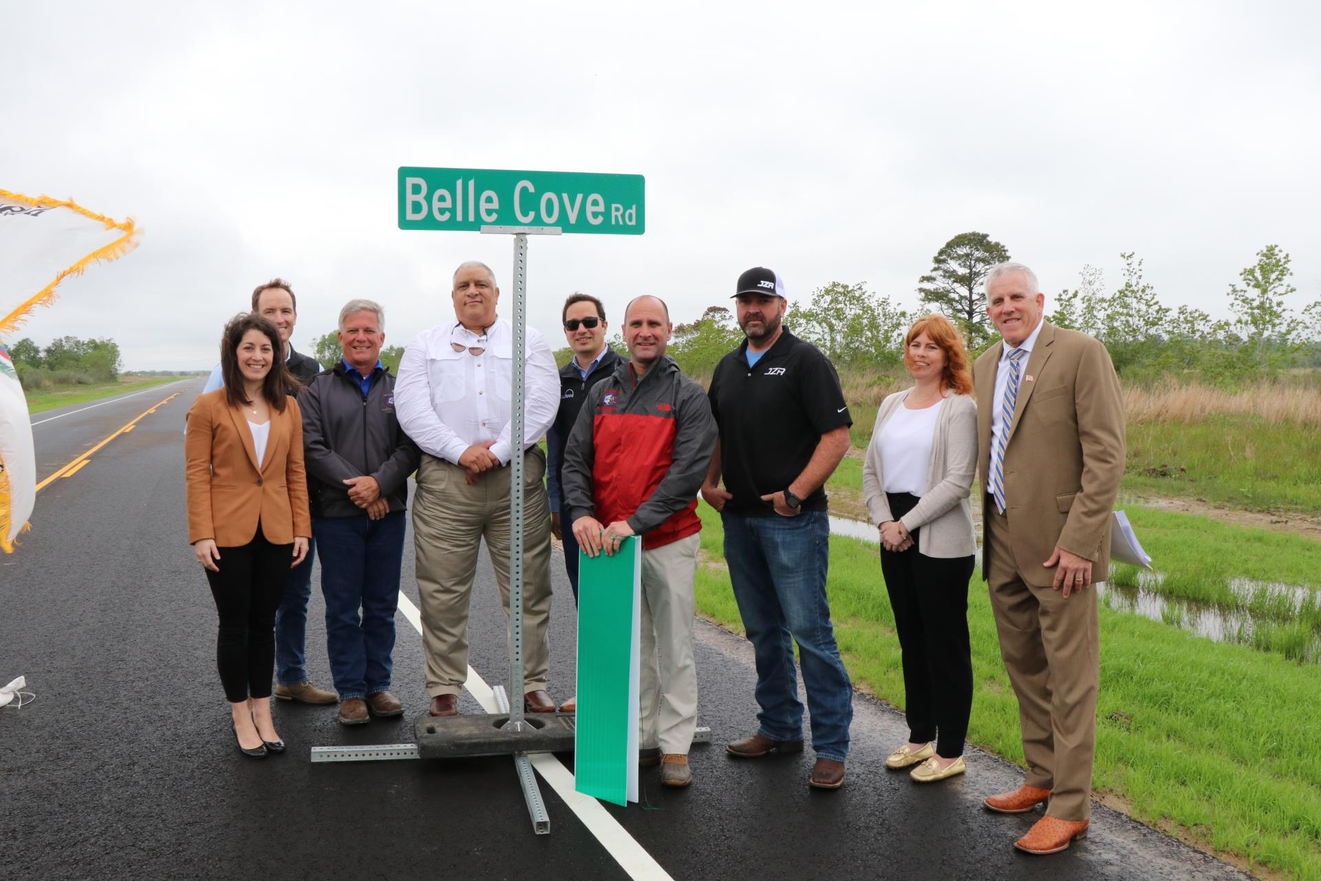 Belle Cove sign unveiling
