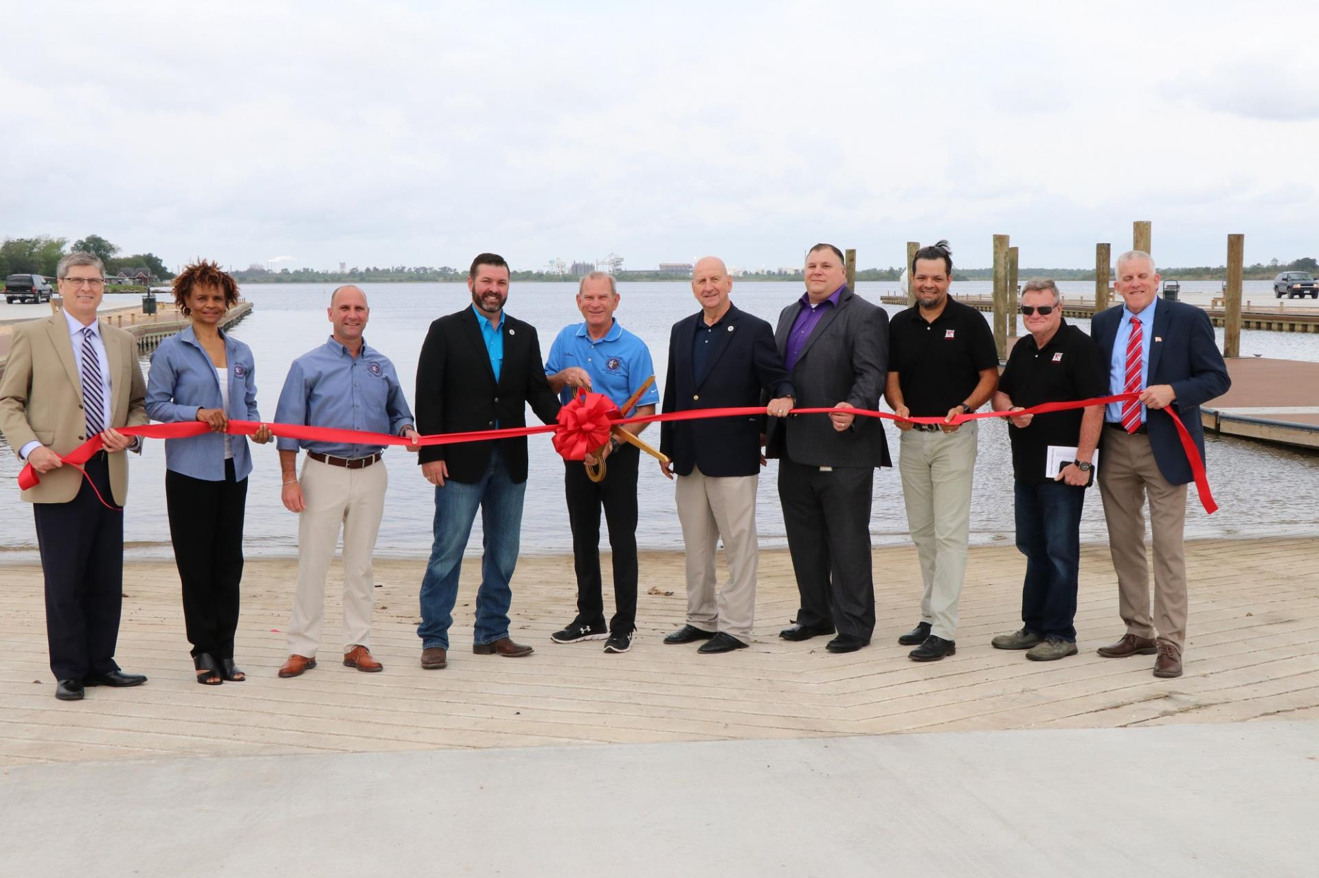PLP boat launch ribbon cutting
