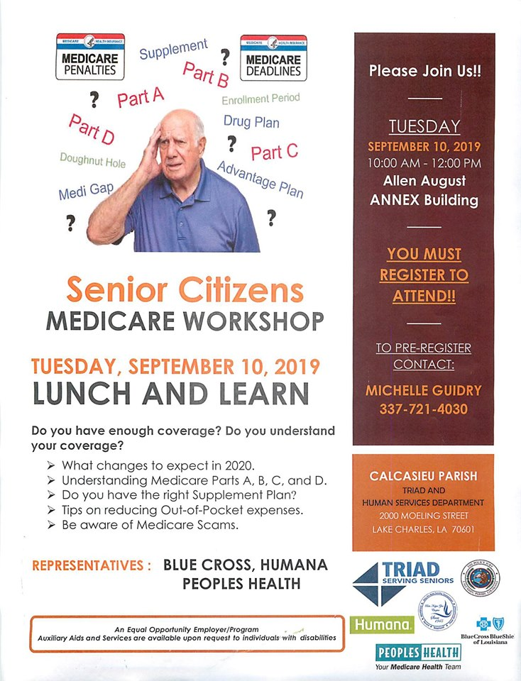 Lunch and Learn Medicare workshop 2019