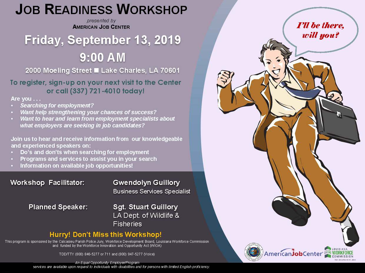 Job Readiness workshop flyer