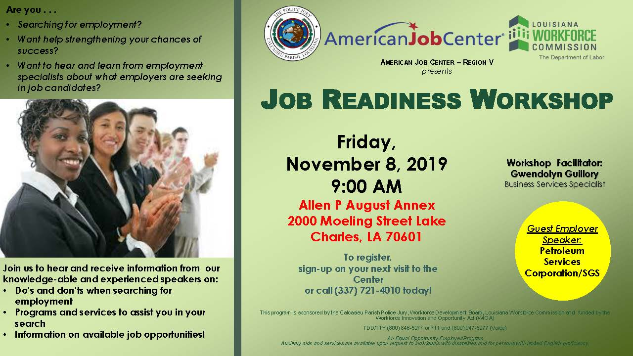 Nov. 8 job readiness
