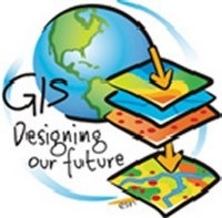 "This image of the ""GIS globe"" says GIS: Designing our future"