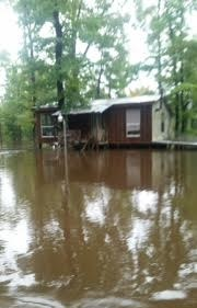 flooded camp