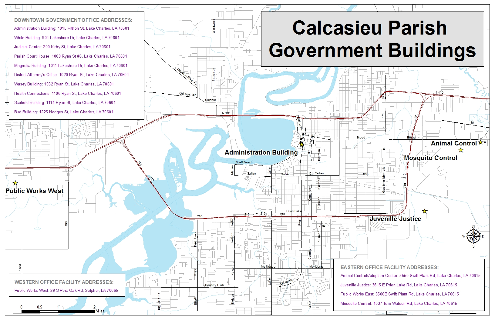 Calcasieu Parish - Govt Buildings